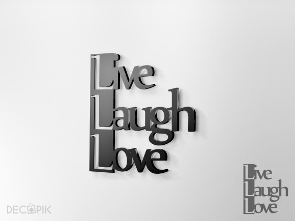 Napis 3D - Live Laugh Love