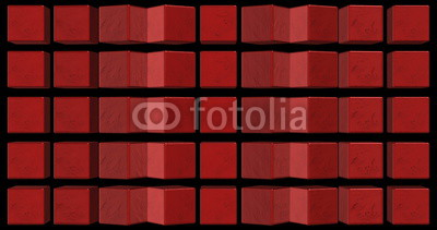 3D Cubes Mapping Background Visual Red