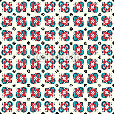 abstract objects colorful seamless vector pattern
