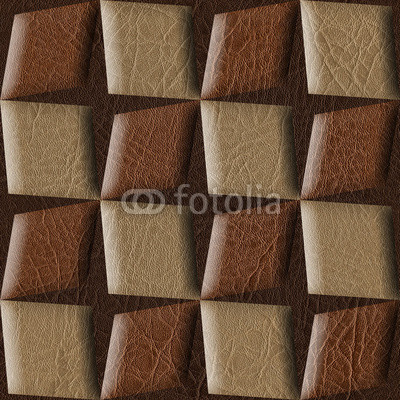 Abstract paneling pattern - leather texture