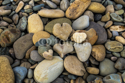 A Pile Of Heart Rocks