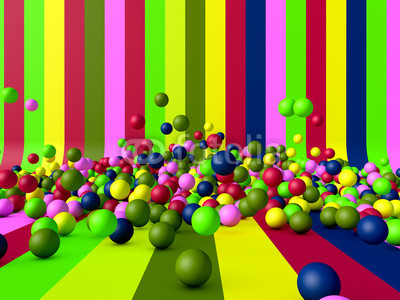Abstract background and balls