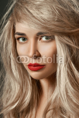 girl with make-up and healthy hair