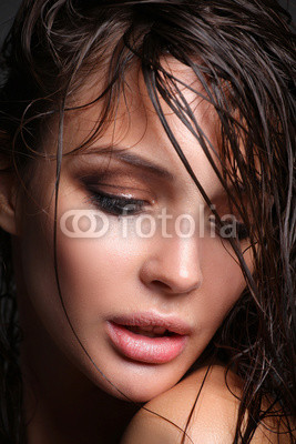 Portrait of young woman with fashion makeup