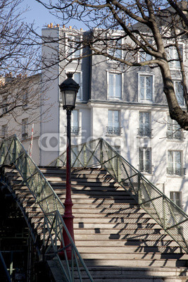 Bridge over Canal St Martin in Paris; France