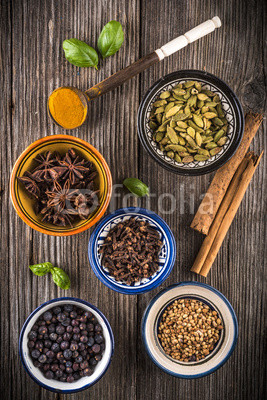 cups of mixed spices