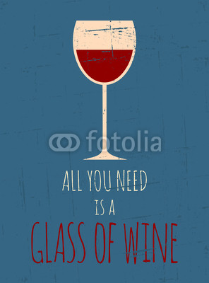 Retro plakat Red Wine