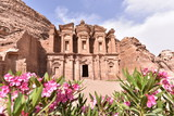 Ad Deir is a monumental building carved out of rock in the ancient Jordanian city of Petra