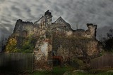 Ruins of Castle Gryf in Poland