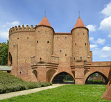 Old town in Warsaw, Poland. Barbican, Fortified medieval outpost