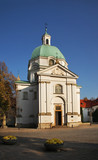 Church of St. Casimir  on New town market place in Warsaw. Poland