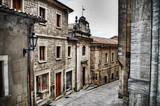 picturesque street in San Marino in hdr