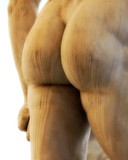 back of the marble statue with white buttocks