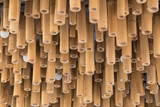 Bamboo wood decoration on ceiling background