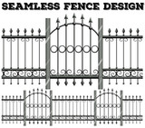 Seamless metal fence design