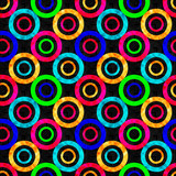 colored abstract psychedelic geometric circles seamless pattern vector illustration