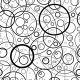 Seamless monochrome circles pattern