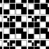 Seamless abstract geometric pattern squares black white backgrou