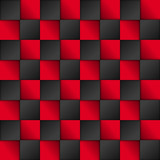 Vector black and red squares background. Abstract vector