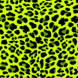 Leopard seamless pattern design in trendy green color, vector