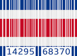 bar code flag costa rica