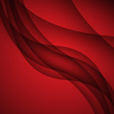 Red modern abstract lines swoosh certificate - speed smooth wave