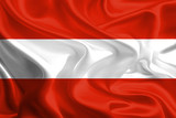 Waving Fabric Flag of Austria