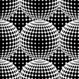Abstract Halftone Circle Seamless Pattern.
