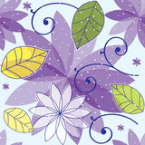 Seamless floral flower purple vector illustration suitable for wrapping paper, wallpaper