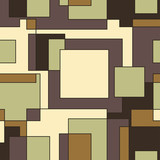 Seamless vector geometric pattern Square