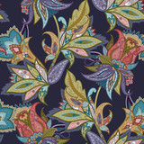 Fantasy flowers seamless paisley pattern. Floral ornament