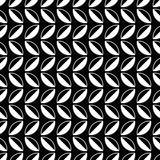 Seamless black and white background with abstract geometric shapes