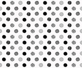 Seamless hand drawn circles pattern.