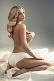 Attractive and sensual blond lady