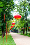 chinese lamps in Lazienki Park