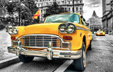 Vintage Yellow Cab in Lower Manhattan - New York City