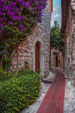 Small street in Eze village   France