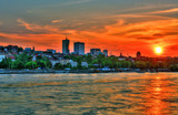 Beautiful sunset over Warsaw.HDR-high dynamic range