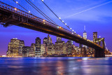 New York City Manhattan Brooklyn Bridge night skyline