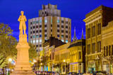 Macon, Georgia Cityscape and Confederate Soldiers Memorial