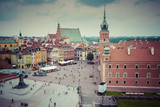WARSAW, POLAND - JULY  08, 2015: Old town in Warsaw, Poland. The