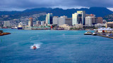View Honolulu From Cruiseship Leaving Harbor