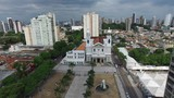 Aerial View of Basilica de Nazare, in Belem do Para, Brazil
