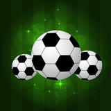 soccer balls isolated