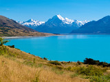 Emerald Glacier Lake Pukaki, Mount Cook Mt Cook NP, NZ