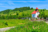 Church in summer landscape, Podhale, Tatry Mountains, Poland