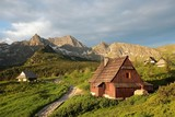 Cottage in a valley surrounded by the Tatra Mountains