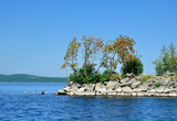 Gull Island on Lake Turgoyak, Southern Urals