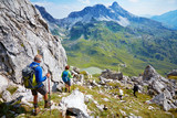 A group of hiker in austrian alps