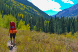 Hiker Backpacker Colorado Fall